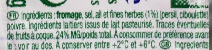 Le Petit Moulé Fromage Ail & Fines Herbes - Ingrédients - fr