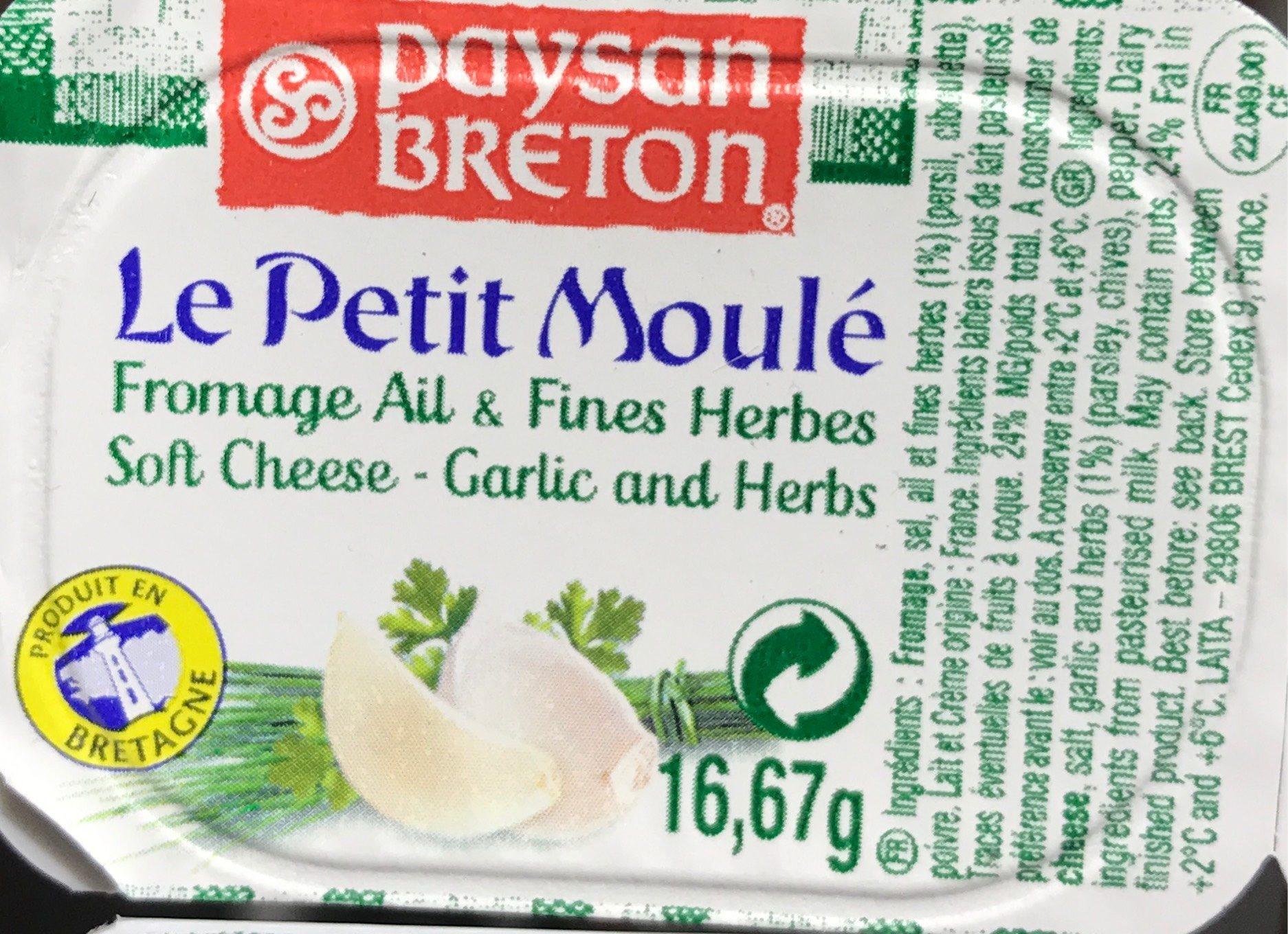 Le Petit Moulé Fromage Ail & Fines Herbes - Informations nutritionnelles - fr