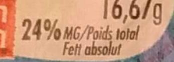 Le Petit Moulé nature (24% MG) - Informations nutritionnelles - fr
