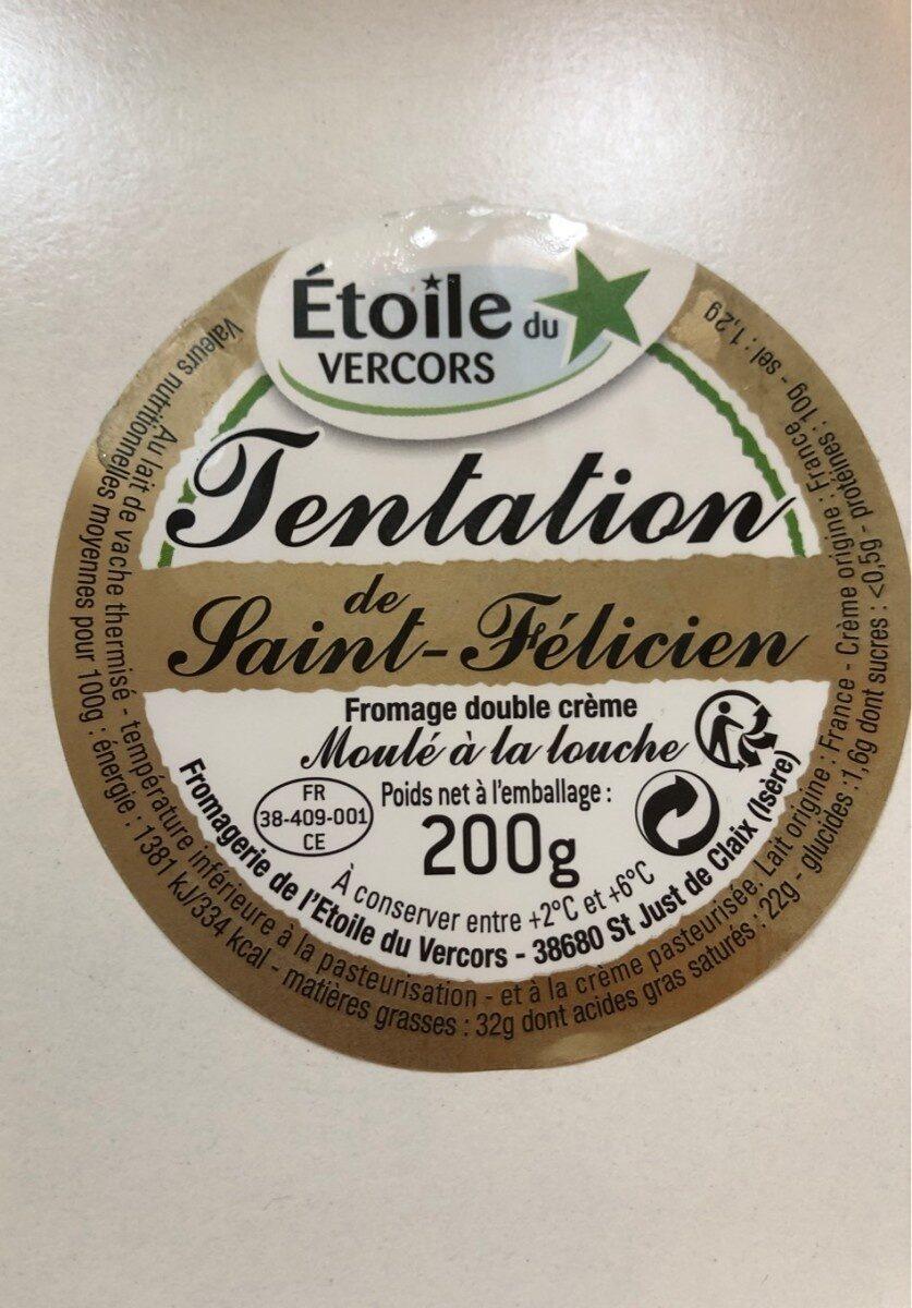 Etoile du Quercy, Tentation de Saint Felicien - Informations nutritionnelles - fr