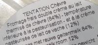Le Tentation Chèvre (25 % MG) - Ingredients - fr