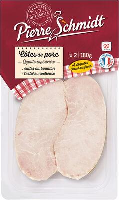 Cotes de porc sans os cuites au bouillon PIERRE SCHMIDT - Produit - fr