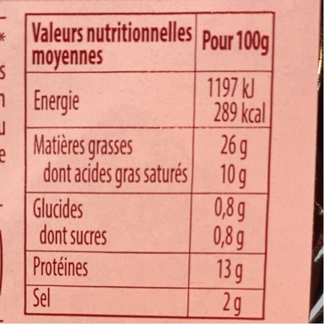 Knack D'Alsace Tradition - Nutrition facts - fr