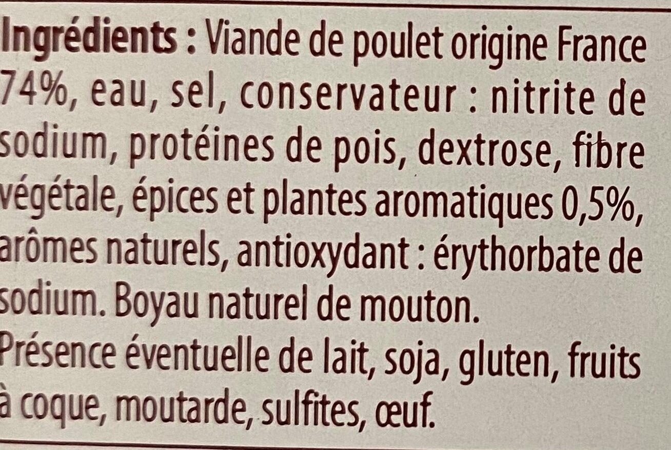 Knack de volaille - Ingrédients - fr