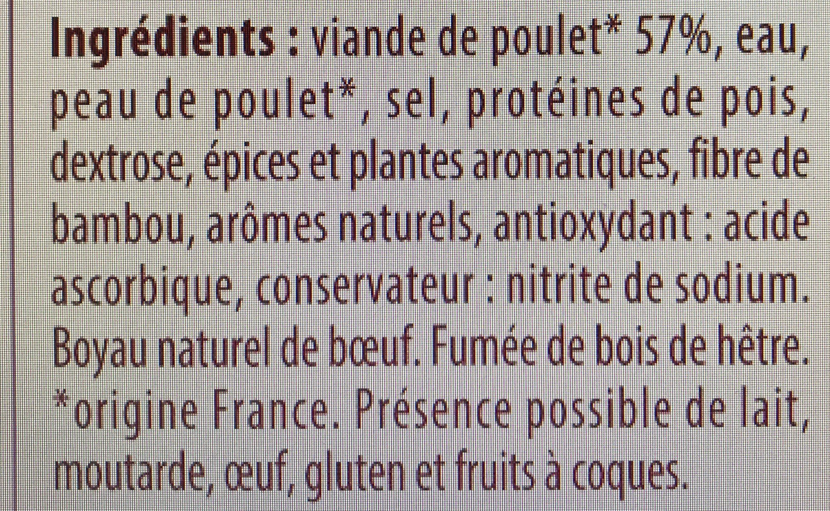 Cervelas de Volaille - Ingrédients - fr