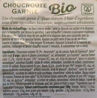 Choucroute garnie - Informations nutritionnelles - fr