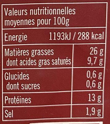Mini knacks d'alsace - Informations nutritionnelles - fr