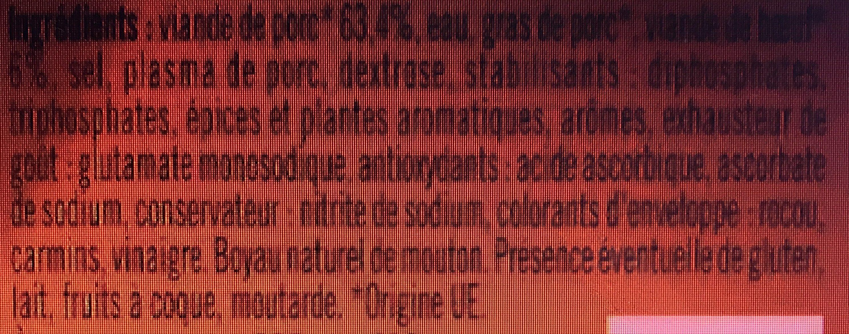 Knacks d'Alsace Qualité Supérieure - Recette de Famille - Ingrediënten - fr