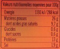 Knacks d'Alsace Qualité Supérieure - Recette de Famille - Voedingswaarden - fr