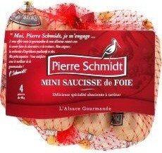 Pierre Schmidt, Mini saucisse de foie, delicieuse specialite alsacienne a tartiner, 4 x - Produit - fr