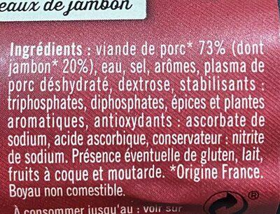 Pierre Schmidt, Saucisse de jambon, piecette, le - Ingrédients - fr