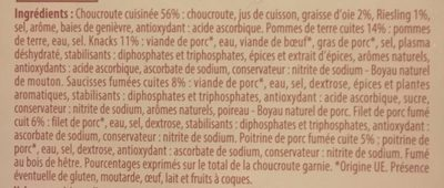 Choucroute - Ingredients