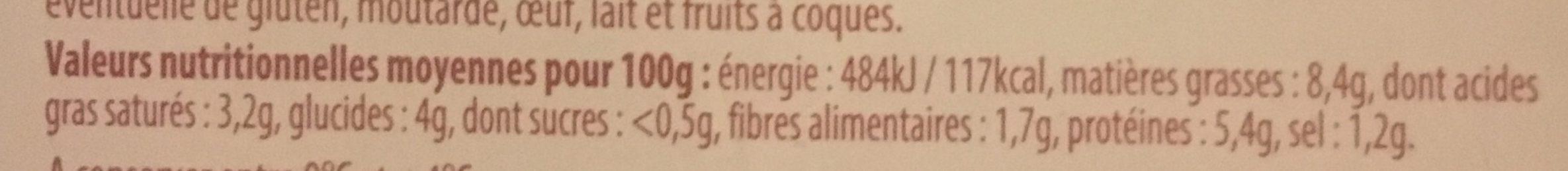 Choucroute - Nutrition facts