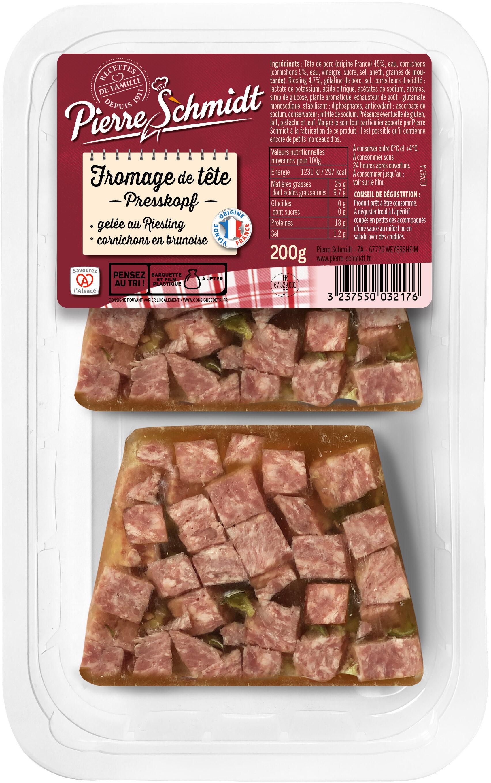 Fromage De Tête Au Riesling, Pierre Schmidt - Produit - fr
