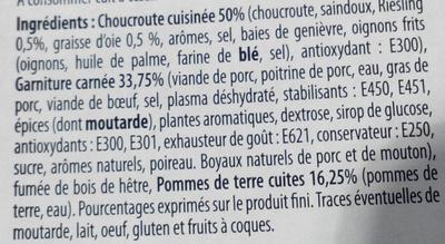 Choucroute garnie à la graisse d'oie - Ingrédients