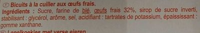 Biscuits cuillers - Ingredients