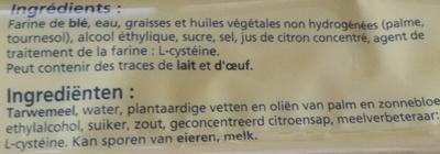 Pâte Brisée - Ingredienti - fr