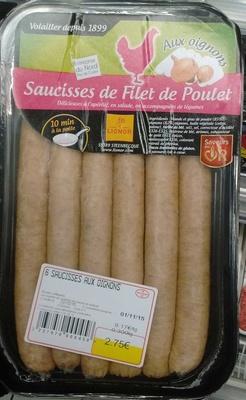 Saucisses de Filet de Poulet aux oignons - Produit