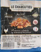 Émincé de lamelle de kebab de volaille HALAL - Product - fr