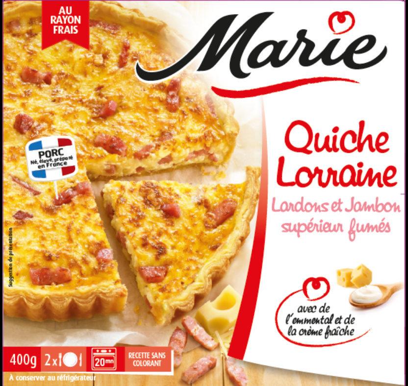 Quiche Lorraine, Lardons et Jambon supérieur fumés - Product