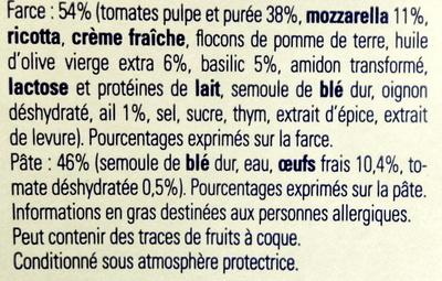 Demi-lune, Tomate Basilic Mozzarella - Ingrediënten - fr