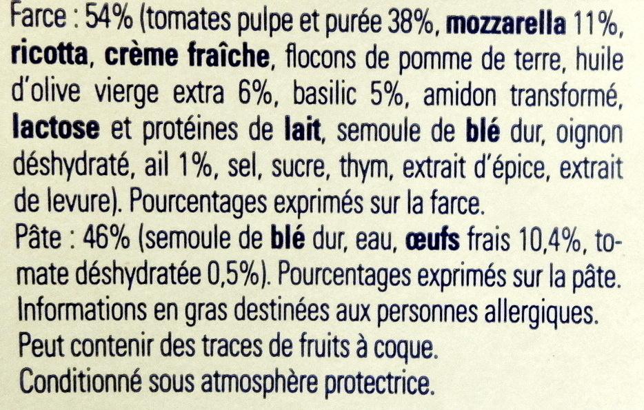 Demi-lune, Tomate Basilic Mozzarella - Ingredients