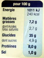 Demi-lune, Tomate Basilic Mozzarella - Voedingswaarden - fr