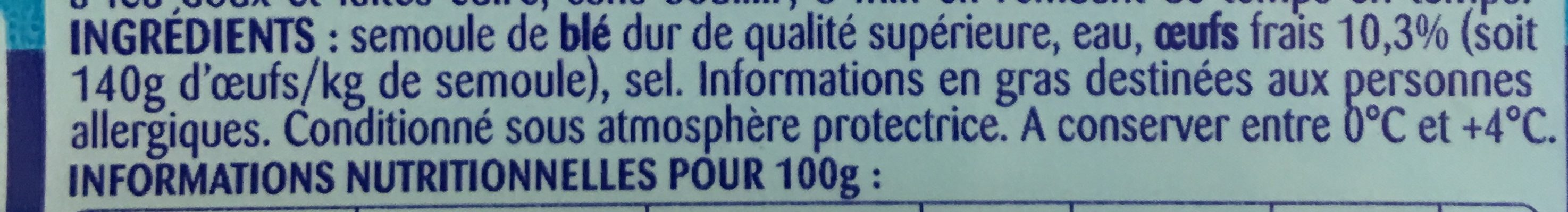 Tagliatelles aux œufs frais (Format Maxi) - Ingredients
