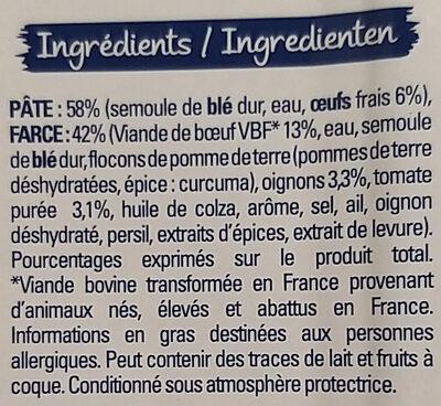 Lustucru tortellini boeuf - Ingrédients - fr
