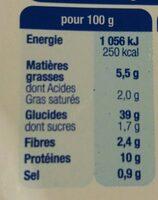 Lustucru tortellini boeuf - Informations nutritionnelles - fr