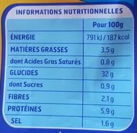 Gnocchi a poeler fromage 300g - Informations nutritionnelles - fr