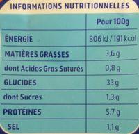 Gnocchi à Poêler au Fromage - Nutrition facts