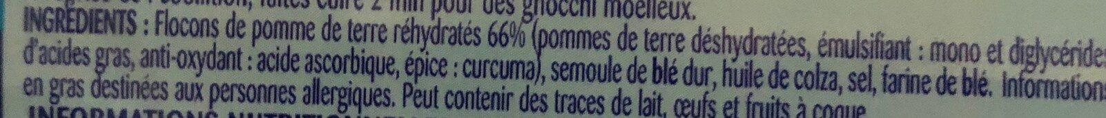 Lustucru gnocchi - Ingredienti - fr