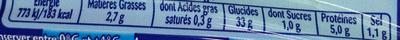Lustucru gnocchi - Valori nutrizionali - fr