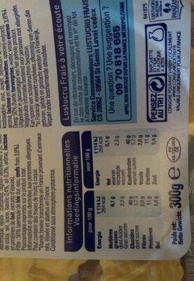 Ravioli de bœuf à la bolognaise - Nutrition facts