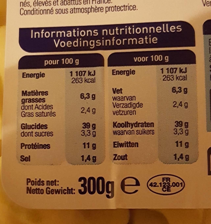 Lustucru Ravioli Bolognaise 2x300g +1 Paquet Gratuit - Informations nutritionnelles - fr