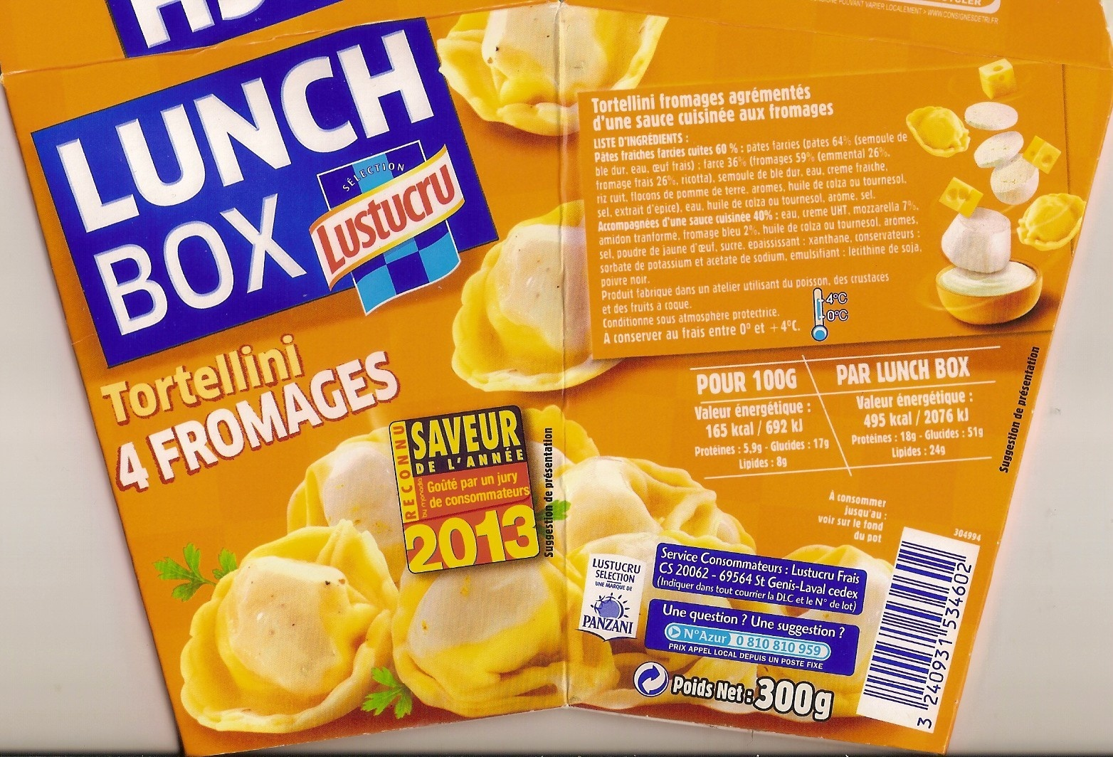 Tortellini 4 Fromages, LunchBox - Product - fr