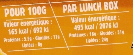 Tortellini 4 Fromages, LunchBox - Nutrition facts - fr