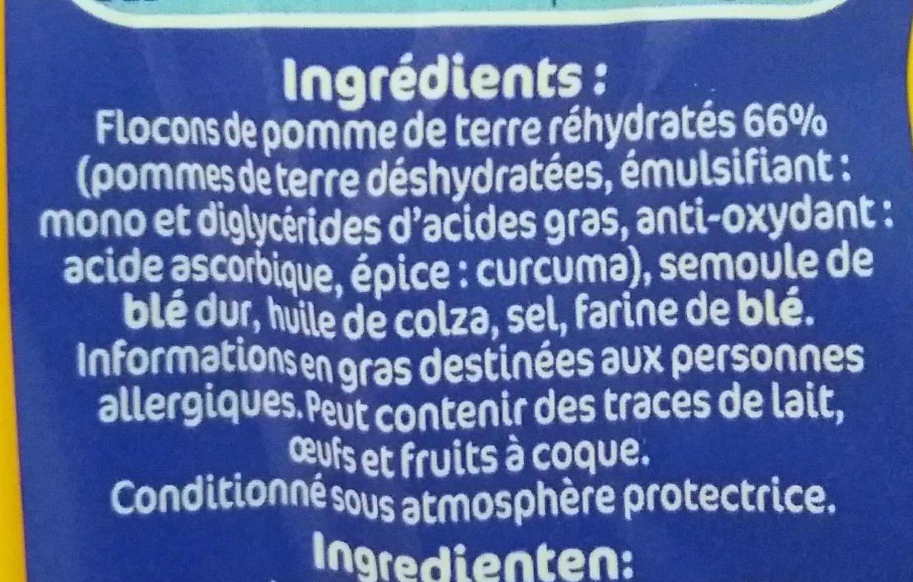 Mini gnocchi a poeler 300g lustucru - Ingredients - fr