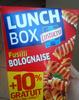 Fusilli Bolognaise, LunchBox (+ 10 % Gratuit) - Product