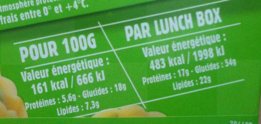 Tortellini Pesto (+ 10 % Gratuit), LunchBox - Informations nutritionnelles
