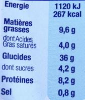 Demi-Lune, Cèpes-Parmesan - Informations nutritionnelles - fr