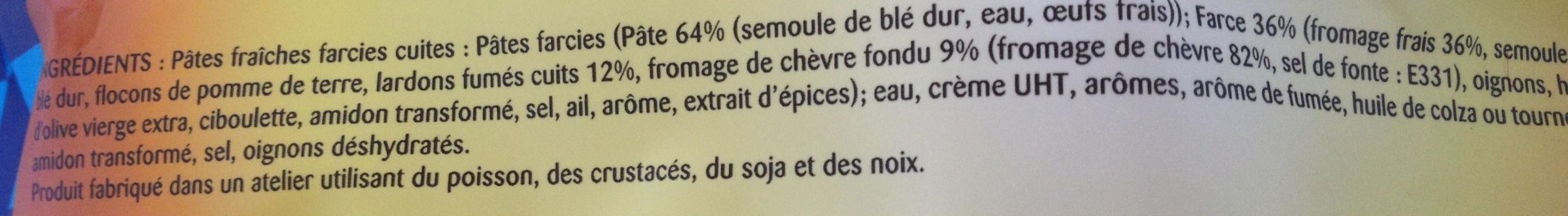 Tortellini à Poêler (Chèvre Lardons) - Ingrédients - fr