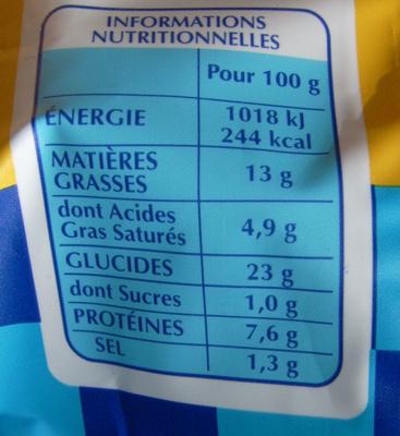 Ravioles à poêler aux fromages - Informations nutritionnelles - fr
