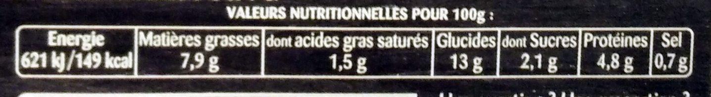 Tortilla - Nutrition facts - fr