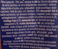 Lustucru gnocchi a poeler extra fromage - Ingrédients - fr