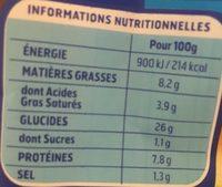 Gnocchi à Poêler Extra Fromage - Nutrition facts