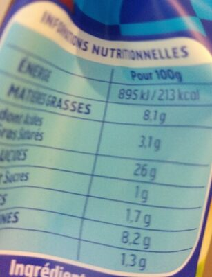 Gnocchi à poêler extra fromage - Informazioni nutrizionali - fr