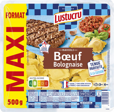 Lustucru ravioli bœuf bolognaise 500g format maxi - Produit - fr