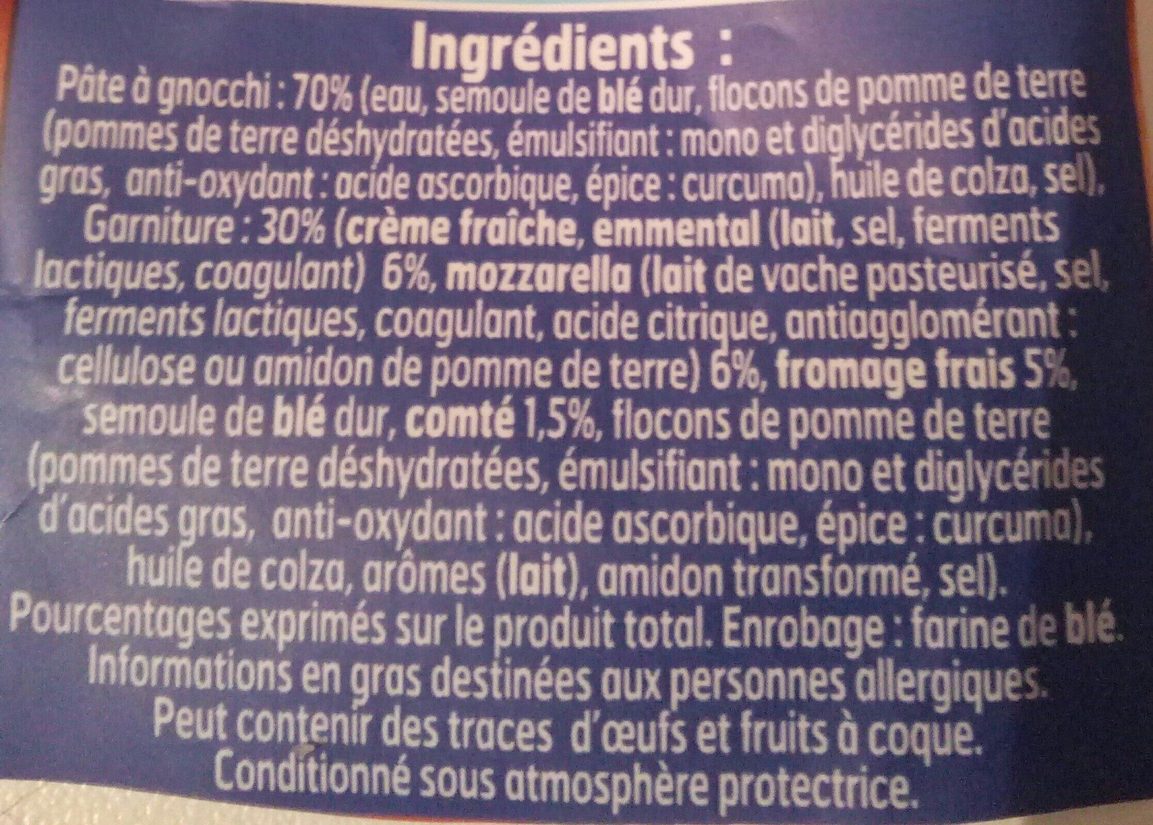 Gnocchis à poêler extra fromage - Ingrediënten